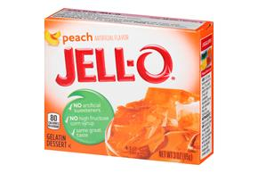 Jell-O Gelatin Peach 3 Oz Box