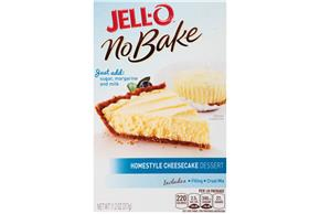 Jell-O No Bake Home Style Cheesecake Dessert Mix 11.2 Oz Box
