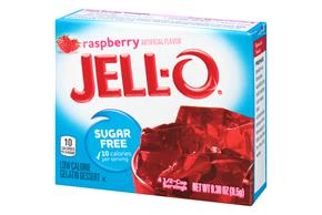 Jell-O Gelatin Raspberry Sugar Free  0.3 Oz Box