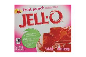 Jell-O Gelatin Fruit Punch 3 Oz Box