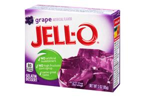 Jell-O Gelatin  Grape 3 Oz Box