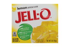 Jell-O Gelatin  Lemon 3 Oz Box