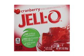 Jell-O Gelatin Cranberry 3 Oz  Box