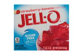 Jell-O Gelatin Strawberry Banana Sugar Free  0.3 Oz Box
