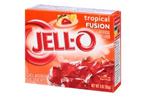 Jell-O  Gelatin  Tropical Fusion 3 Oz Box