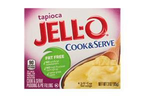 Jell-O Cook & Serve Fat Free Tapioca Pudding & Pie Filling 3 Oz. Box