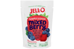 Mixed Berry Jell-O Simply Good Gelatin - 3 Oz.