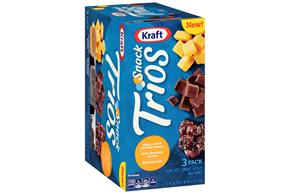 Kraft Snack Trios Sharp Yellow Cheddar, Dried Cherries & Dark Chocolate (3-Pack) 4.5Z