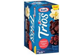 Kraft Snack Trios Extra Sharp White Cheddar, Dried Cranberries & Dark Chocolate (3-Pack) 4.5Z