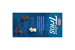 Kraft Snack Trios Extra Sharp White Cheddar, Dried Cranberries & Dark Chocolate (3-Pack) 4.5Z
