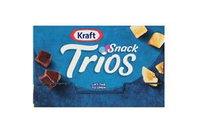 Kraft Snack Trios Colby Jack, Dried Banana Chips & Dark Chocolate (3-Pack) 4.5Z