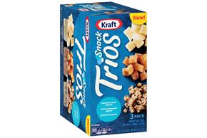Kraft Snack Trios Monterey Jack, Dried Cinnamon Apples & Granola Clusters (3-Pack) 4.5Z