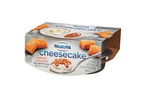 Philadelphia Salted Caramel Cheesecake-Refrigerated Snacks 3.25 Oz