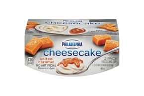 Philadelphia Salted Caramel Cheesecake-Refrigerated Snacks  3.25 Oz