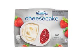 Philadelphia Strawberry Cheesecake-Refrigerated Snacks  3.25 Oz