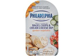 Philadelphia Garden Vegetable Bagel Chips & Cream Cheese Dip Cheese Snacks  2.5 Oz