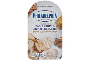 Philadelphia Brown Sugar And Cinnamon Bagel Chips & Cream Cheese Dip Cheese Snacks  2.5 Oz