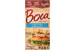 Boca Original Chik'n Vegan Patties Made With Nongmo Soy 4 Ct Box
