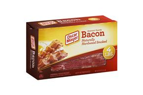 Oscar Mayer Naturally Hardwood Smoked Bacon Club 4 Ib Box