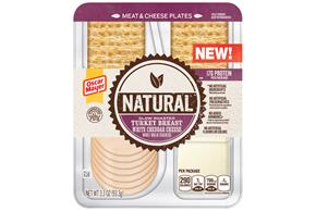 Natural Slow Roasted Turkey Breast, White Cheddar Cheese, Whole Wheat Crackers