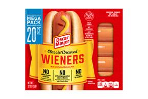 Oscar Mayer Classic Uncured Wieners 20 Ct Pack
