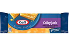 Kraft Colby & Monterey Jack Natural Cheese Block  8 Oz  Vacuum Packed