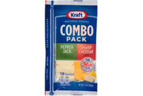 Kraft Pepper Jack & Sharp Cheddar Combo Pack Natural Cheese Slices  7.2 Oz Film Wrapped (18 Slices)