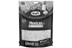 Kraft Mexican Four Cheese Shredded Natural Cheese 8 Oz Bag