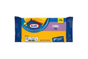 Kraft Colby Natural Cheese Block 16 Oz  Vacuum Packed