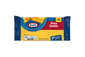 Kraft Sharp Cheddar Natural Cheese Block 16 Oz  Vacuum Packed