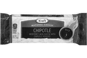 Kraft Chipotle Natural Cheese Block  8 Oz  Vacuum Packed