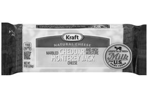Kraft Cheddar & Monterey Jack Marbled Natural Cheese Block  8Oz Vacuum Packed