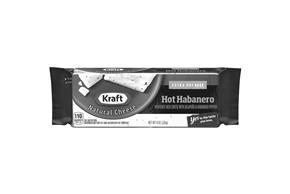 Kraft Hot Habanero Natural Cheese Block  8 Oz  Vacuum Packed