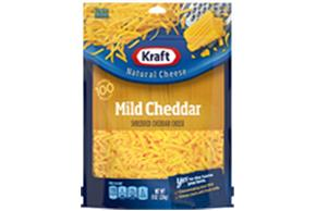 Kraft Mild Cheddar Shredded Natural Cheese  8Oz Bag