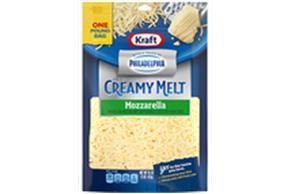 Kraft Mozzarella With Philadelphia Cream Cheese Shredded Cheese 16 Oz Bag
