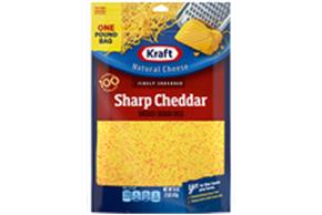 Kraft Sharp Cheddar Finely Shredded Natural Cheese 16 Oz Bag
