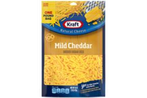 Kraft Mild Shredded Natural Cheese  16Oz Bag