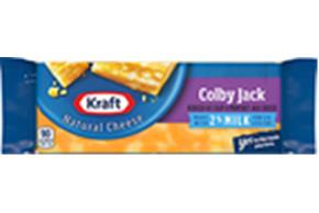 Kraft 2% Milk Colby & Monterey Jack Natural Cheese Block  7 Oz  Vacuum Packed