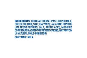 Kraft Jalapeno Cheddar Shredded Natural Cheese  8Oz Bag