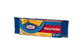 Kraft Sharp Cheddar Natural Cheese Block 8 Oz Vacuum Packed