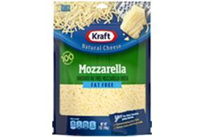 Kraft Fat Free Mozzarella Shredded Natural Cheese 7 Oz Bag