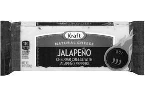 Kraft Jalapeno Natural Cheese Block  8 Oz  Vacuum Packed