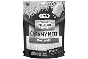 Kraft Mozzarella Cheese With A Touch Of Philadelphia Shredded Natural Cheese  8Oz Bag