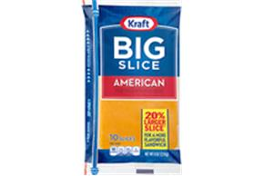 Kraft Big Slice American Cheese Natural Cheese Slices  8Oz Film Wrapped (10 Slices)