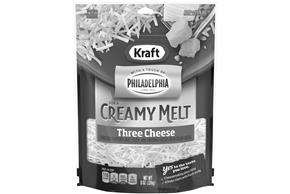 Kraft Three Cheese With A Touch Of Philadelphia Shredded Natural Cheese  8Oz Bag