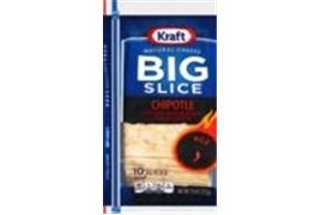 Kraft Big Slice Chipotle Cheddar Natural Cheese Slices  7.5 Oz Film Wrapped (10 Slices)