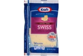 Kraft Slim Cut Swiss Slices - 18Ct