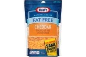 Kraft Fat Free Cheddar Shredded Natural Cheese 14Oz Bag