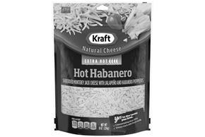 Kraft Hot Habanero Shredded Natural Cheese  8Oz Bag