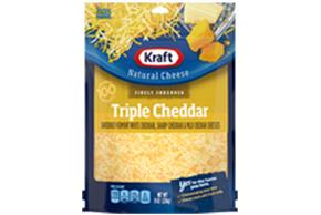 Kraft Triple Cheddar Finely Shredded Natural Cheese 8Oz Bag